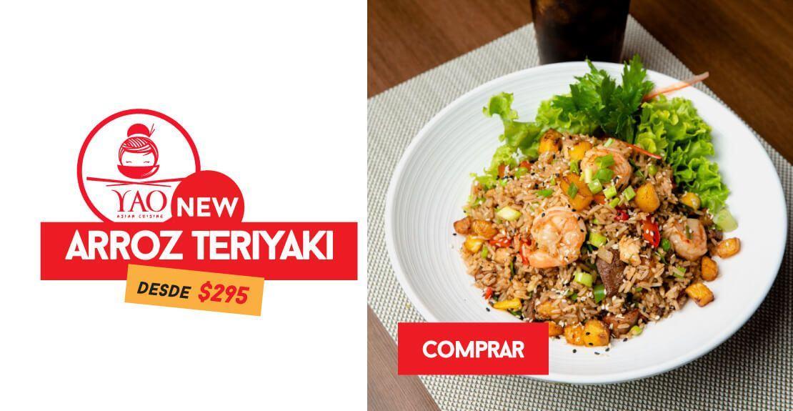 Arroz Teriyaki  -  Restaurantes YAO Asian Cuisine